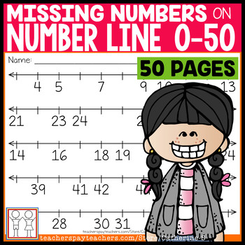 Number Line Missing Numbers by Catherine S Teachers Pay Teachers