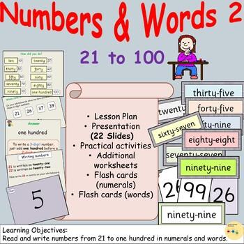 Number/Number Words 2 - Presentations, Lesson Plan Worksheets
