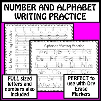 Number and Alphabet Writing Practice by MrsBreakitDown TpT