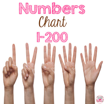 Number Chart 1-200 Worksheets  Teaching Resources TpT