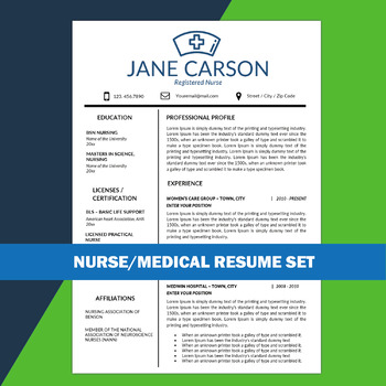 Nurse Resume, School Nurse, Medical Resume, Nursing CV, Health Care - school nurse resume