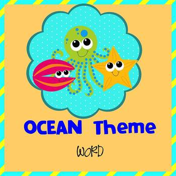 OCEAN - Newsletter Template WORD by The Newsletter Store TpT