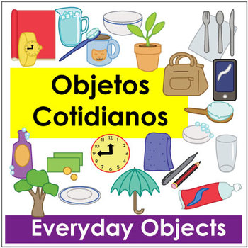 Objetos Cotidianos - Everyday Object Vocab Flashcards and Activities - vocab flashcards