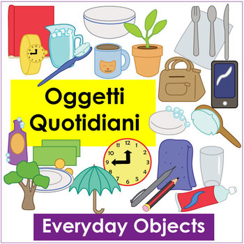 Oggetti Quotidiani - Everyday Object Vocab Flashcards and Activities - vocab flashcards