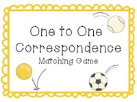 One to One Correspondence Activity-Sports Theme by ...