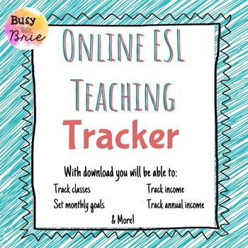 Online Teaching Income Tracker by Busy with Brie TpT