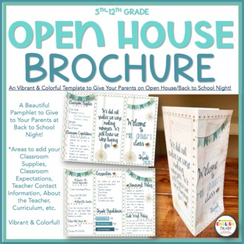Open House, Meet the Teacher Brochure Pamphlet by English Oh My TpT