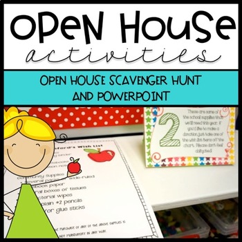 Open House Activities - Scavenger Hunt and Power Point by Ashleigh - open house powerpoint template