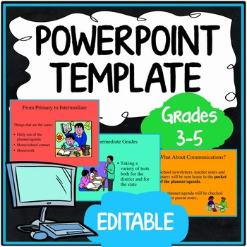 Free Back to School PowerPoint Presentations Resources  Lesson - open house powerpoint template