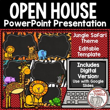 Back to School Open House Editable PowerPoint Template by Queen of