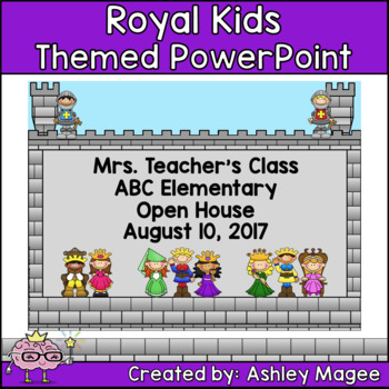 Open House or Back to School PowerPoint Presentation - Royal Kids