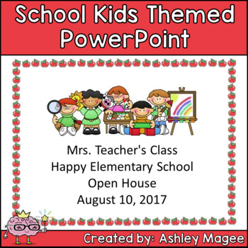 Open House or Back to School PowerPoint Presentation School Kids