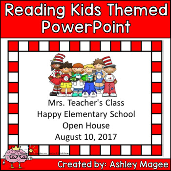 Open House/Back to School PowerPoint Presentation Reading Kids