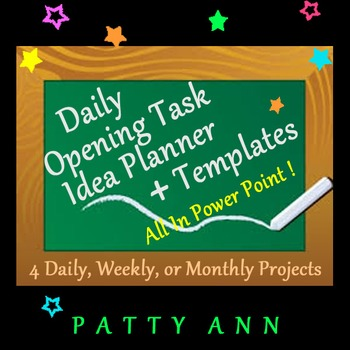 Opening Task Classroom Planner Template \u003e Generic 4 ALL Subjects