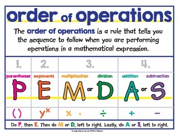 Order Of Operations Pemdas Poster By The Illustrated