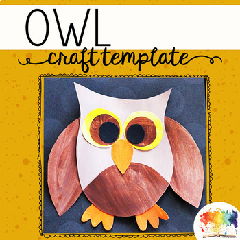 Owl Craftivity Template by Keeping Life Creative TpT