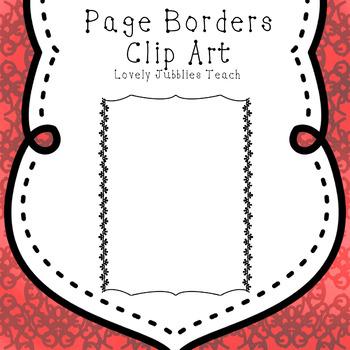 Page Borders Set 2 by Lovely Jubblies Teach Teachers Pay Teachers