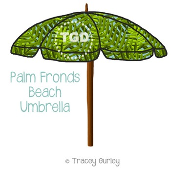 Palm Frond Beach Umbrella Printable Tracey Gurley Designs TpT