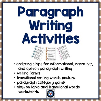 Paragraph Writing with Transitional Words by Adams Achievers TpT