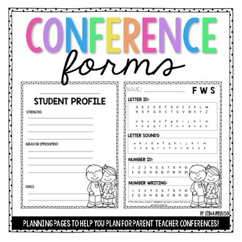Parent Teacher Conference Forms by Teaching With Heart by Gina Peluso