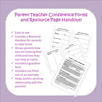 Parent Teacher Conference Kit by Kendra Ohman Teachers Pay Teachers