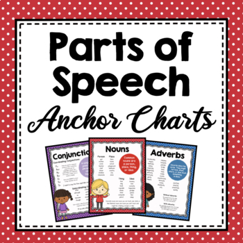 Parts of Speech Anchor Charts by Simply Schoolgirl TpT