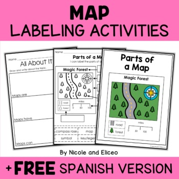 Parts of a Map Activities by Nicole and Eliceo TpT