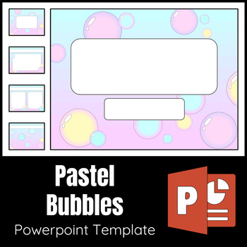 Pastel Bubbles Powerpoint Template by Aubrey Ellen TpT