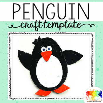 Penguin Craft Template by Keeping Life Creative TpT - penguin template