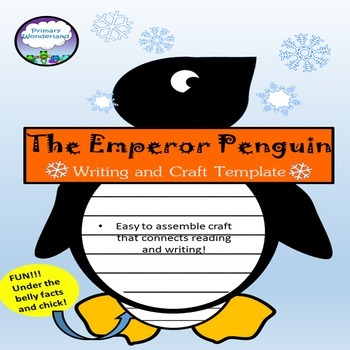 Penguin Writing Craft Template by Primary Wonderland TpT - penguin template