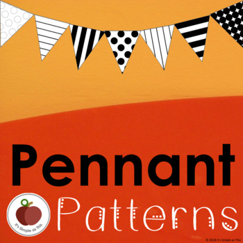 Pennant Patterns - Template - Printable -Classroom Decor by It\u0027s