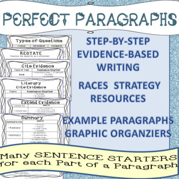 RACES Paragraphs Text Evidence-Based Writing using Sentence