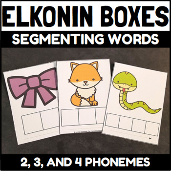 Elkonin Boxes 4 Sounds Worksheets  Teaching Resources TpT