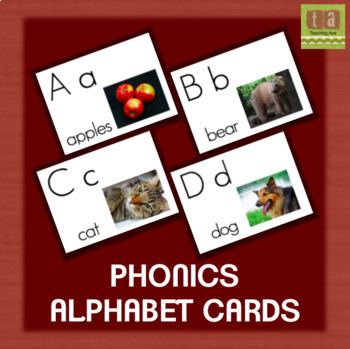 Alphabet Chart Picture Cards With Real Images - No Clip Art! by