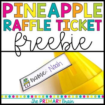 Pineapple Raffle Ticket Freebie by The Primary Brain TpT