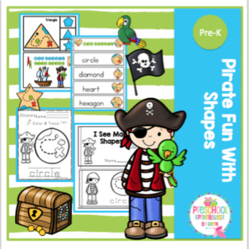 Pirate Fun With Shapes by Preschool Printable Teachers Pay Teachers