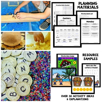 Pirate Theme Preschool Lesson Plans by ECEducation101 TpT - preschool lesson plan
