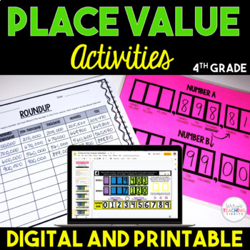 Place Value Chart Activities {4th Grade} by Terry\u0027s Teaching Tidbits