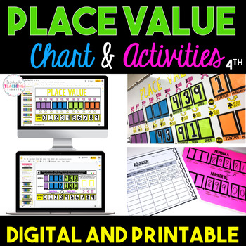 Place Value Chart  Activities Bundle {4th Grade} by Terry\u0027s