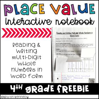 Free Place Value Interactive Notebooks Teachers Pay Teachers