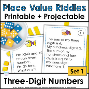 Place Value Riddles for Three-Digit Numbers TpT