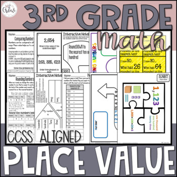 3rd Grade Math Place Value Unit by Ms Crow Teachers Pay Teachers - place value unit