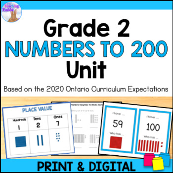 Place Value Unit for Grade 2 (Ontario Curriculum) by The Teaching Rabbit - place value unit