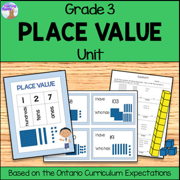 Place Value Unit for Grade 3 (Ontario Curriculum) by The Teaching Rabbit - place value unit