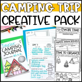 Plan a Camping Trip Writing Add-On Camping Trip Journal by Briana