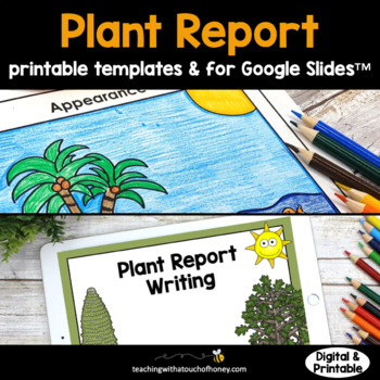 Plant Research Project - Report Writing Templates TpT