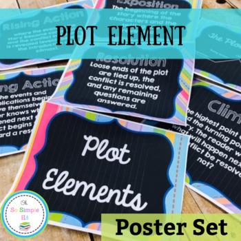 Plot Element Chalkboard Posters by Oh So Simple TpT
