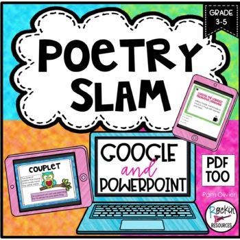 Poetry Unit with Poetry Posters, Elements of Poetry, Poems and