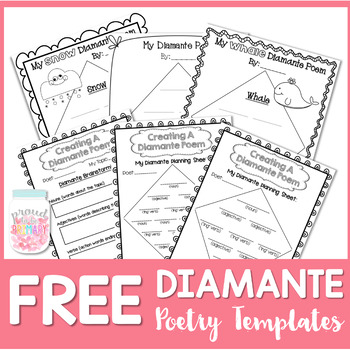 FREE Poetry Writing {Diamante Poems} by Proud to be Primary TpT