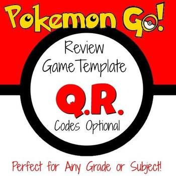 Pokemon Go - Game Template with optional QR Codes by Mathematic Fanatic - pokemon template